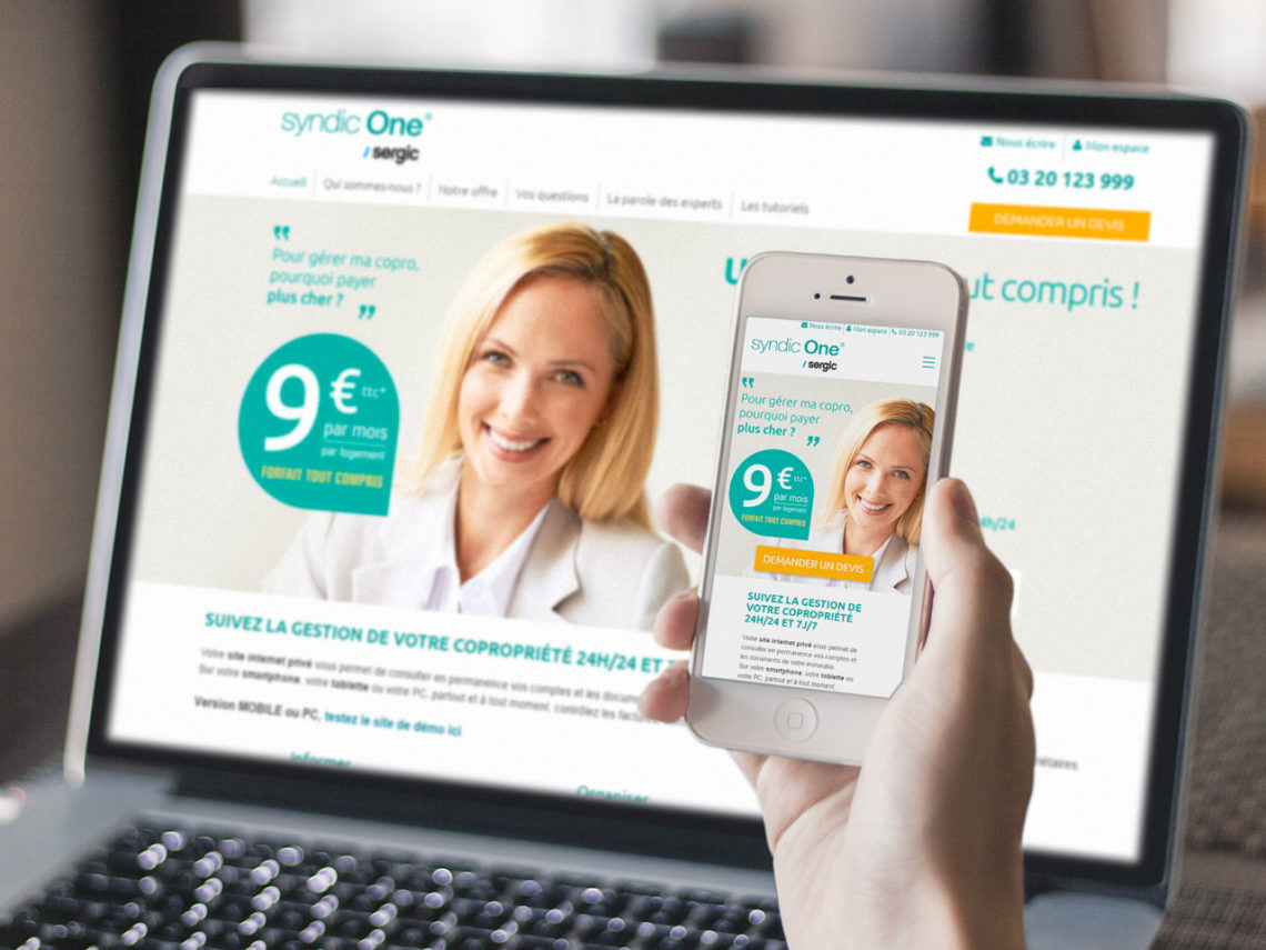 Refonte responsive du site Syndic One