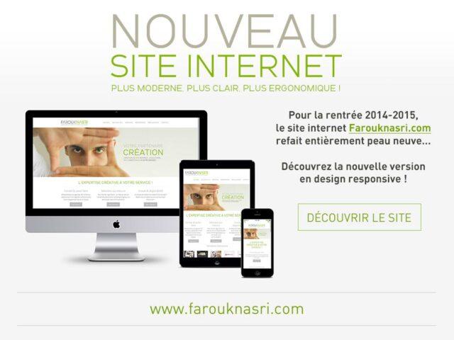 Un nouveau design responsive pour le site internet Farouknasri.com