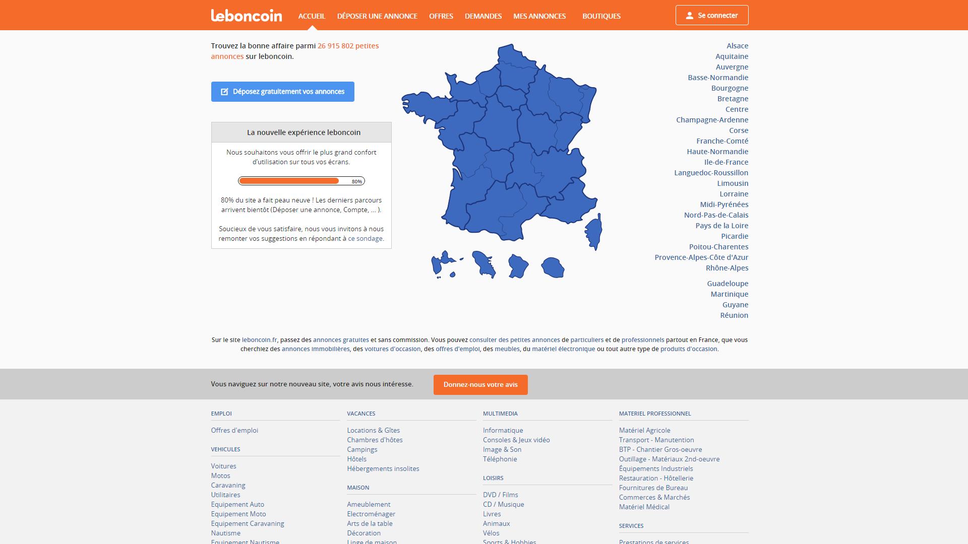 Leboncoin.fr : Nouveau webdesign & nouveau logo