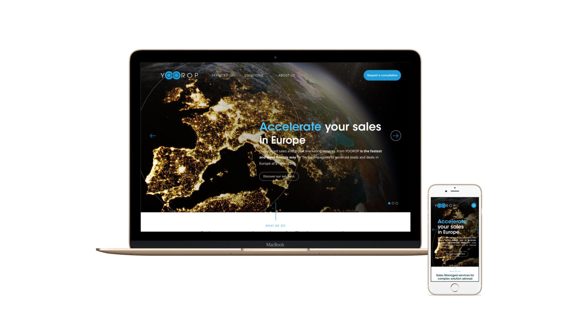 Aperçu du site internet Yoorop en responsive design