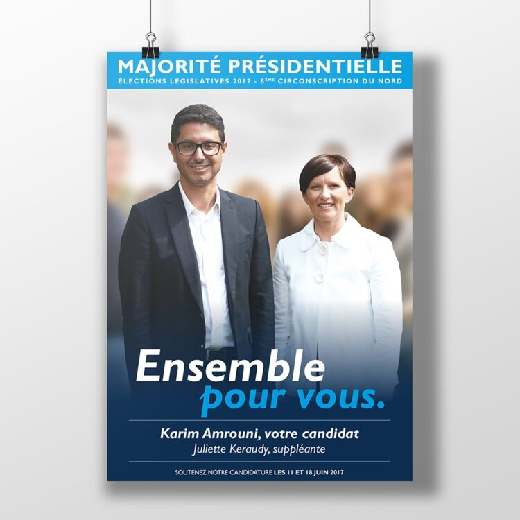 Création graphique d'une campagne électorale - Karim Amrouni