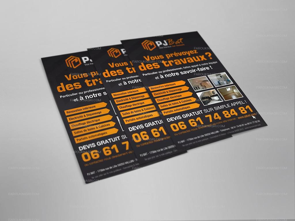 Rendu des flyers PJ BAT avec insertion du logo officiel