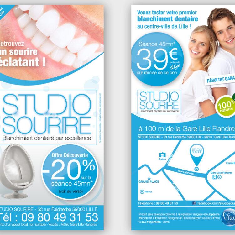 Création de flyers publicitaires - Studio Sourire