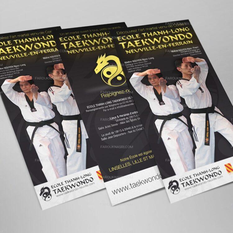 Création de flyers publicitaires - Ecole Thanh-Long Taekwondo