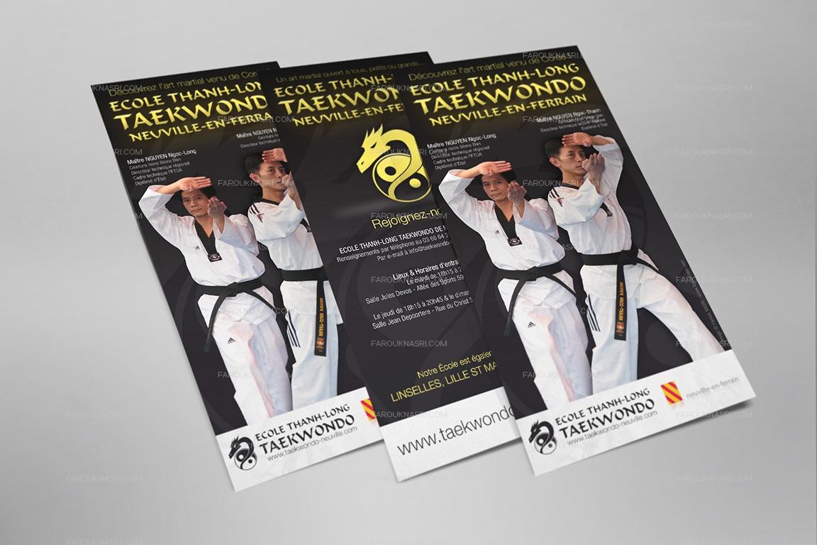 Aperçu des flyers format enveloppe 10x21 créées par Farouk Nasri