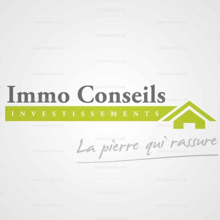 Création de logo - Immo Conseils Investissements