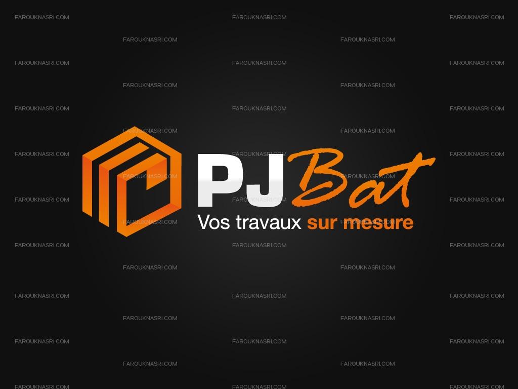 Le logo de la société PJ BAT créé par Farouk Nasri