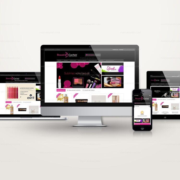 création de site e-commerce Prestashop - Beauté Cachée