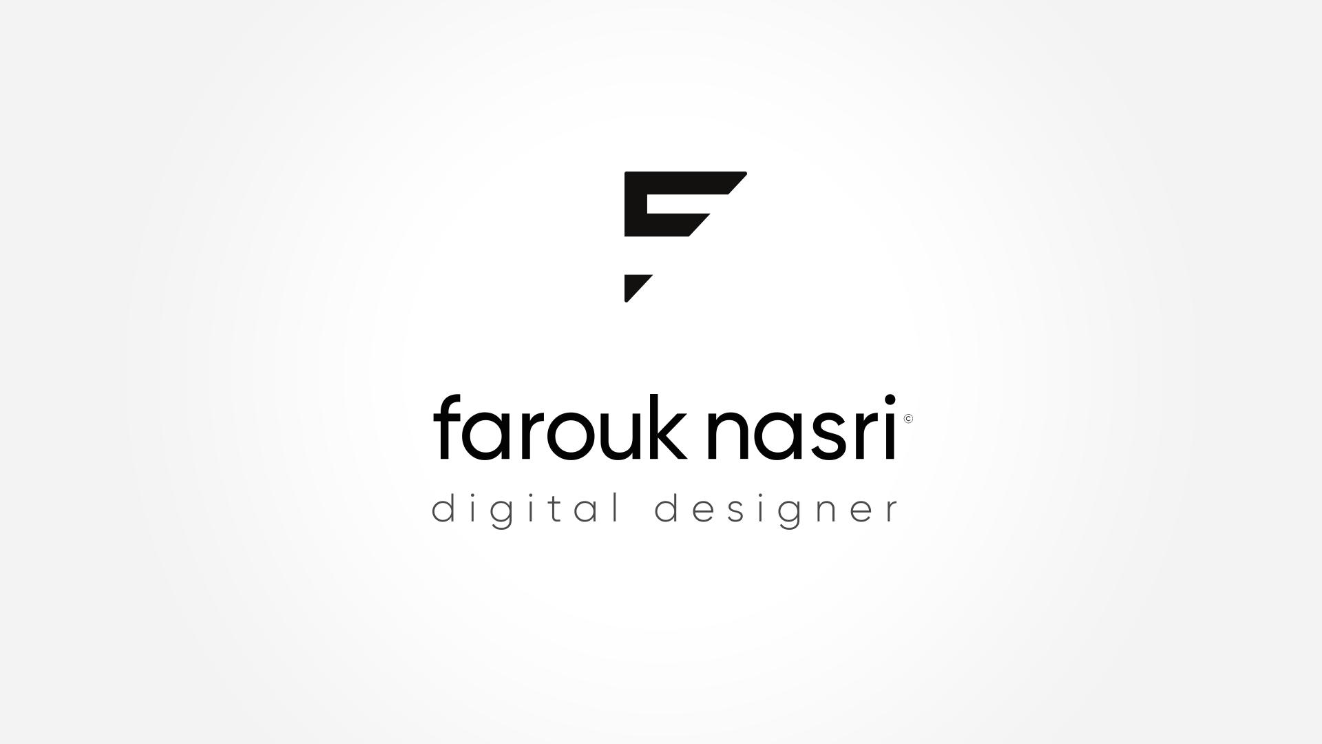 Logo finalisé et vectorisé Farouk Nasri avec le symbole F