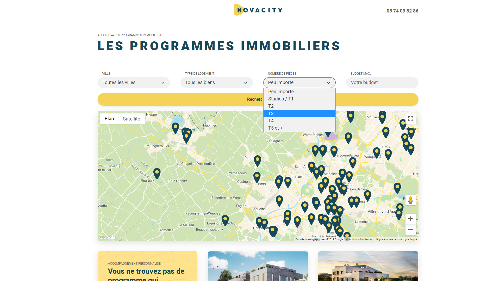 site immobilier wordpress lille