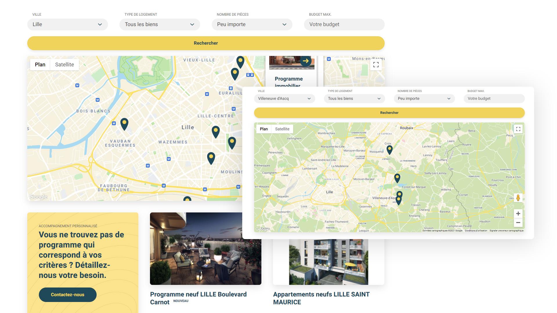 création de site web responsive immobilier Lille