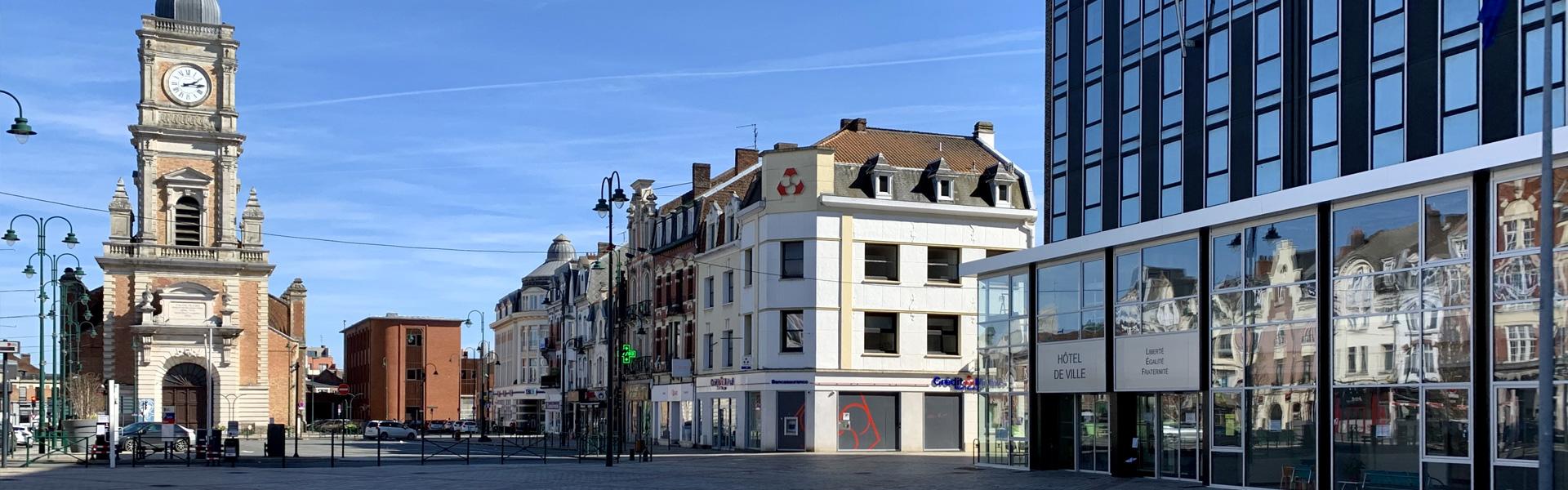 Photo de la ville de Lens où intervient l'agence web Farouk NASRI