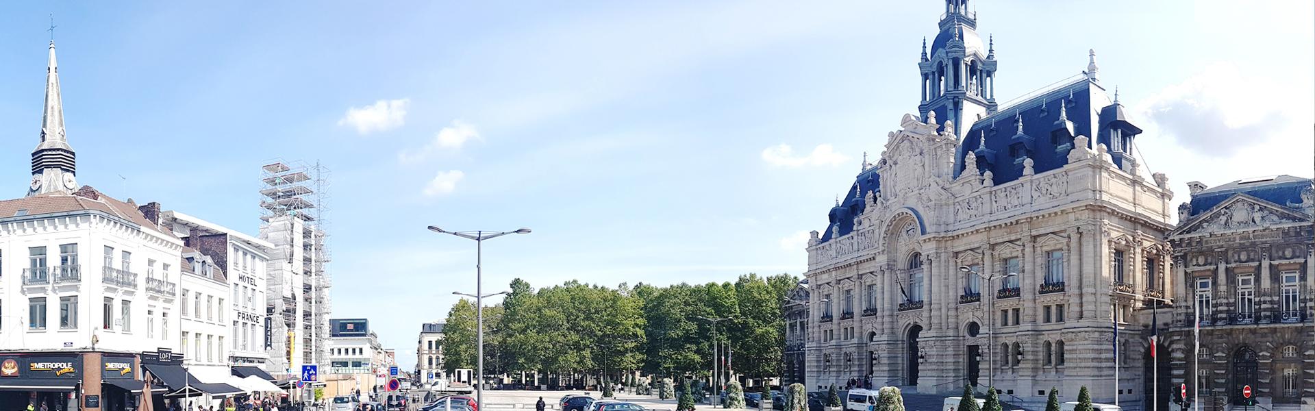 Photo de la Grand-Place de Roubaix, à proximité de l'agence web roubaisienne Farouk Nasri