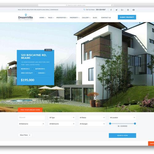 Exemple de création de site internet immobilier à Lille réalisable par l'agence web digitale Farouk Nasri