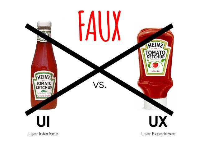 UX vs. UI design : la bouteille de ketchup qui sème la confusion