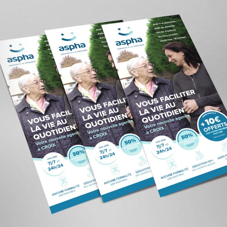 Création & Impression de flyers publicitaires Wasquehal - Aspha Services