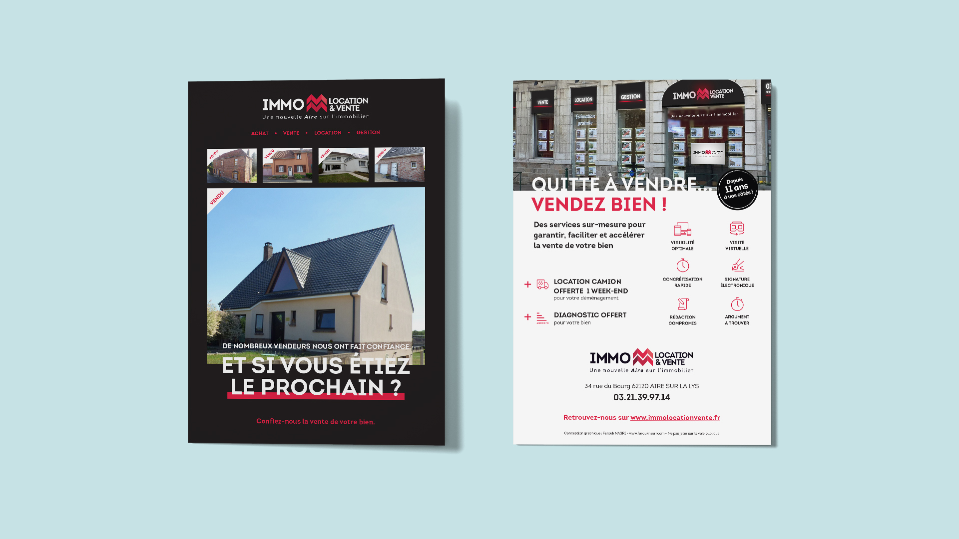 flyer agence immobiliere nord