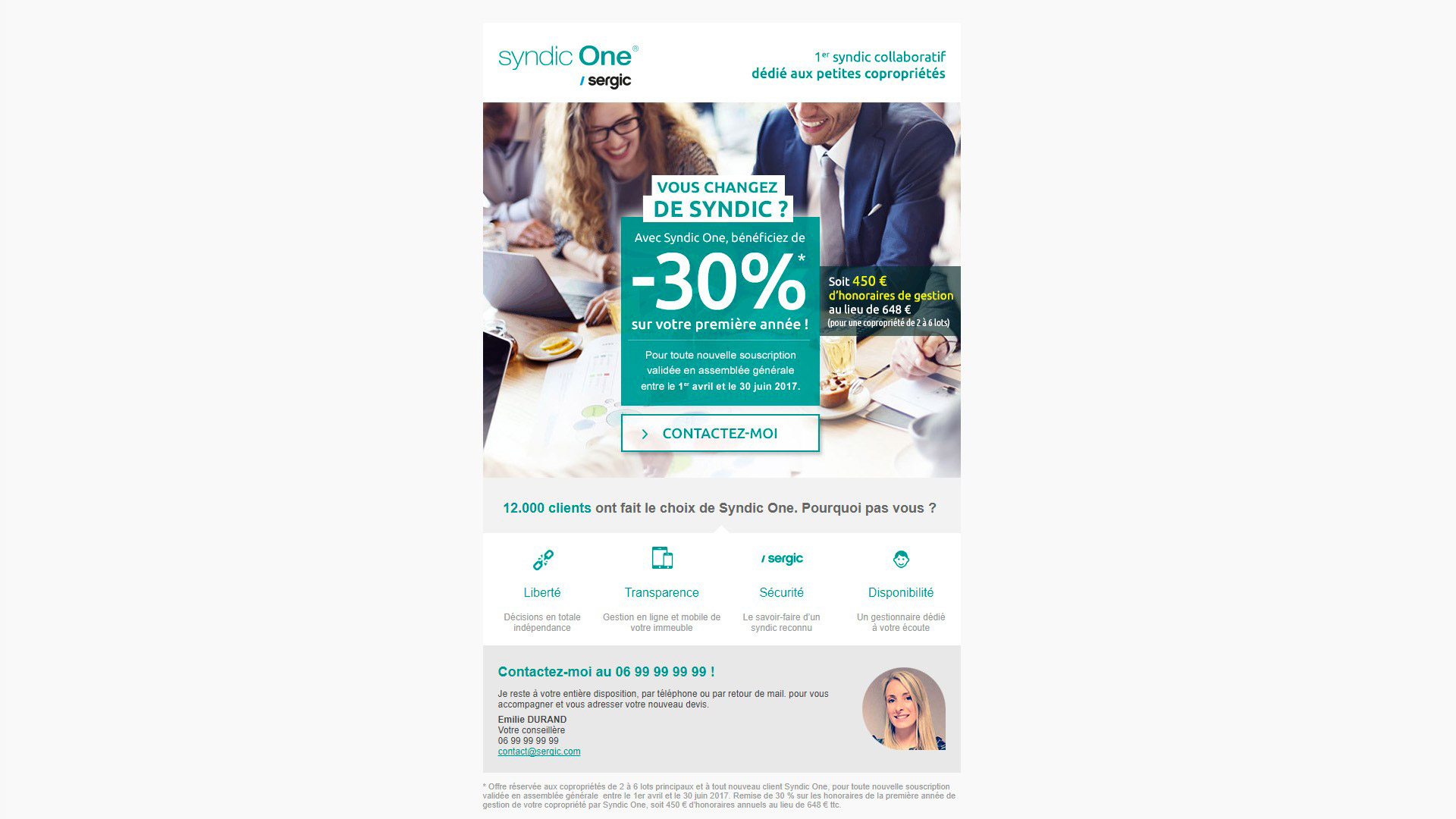 E-mailing Syndic One