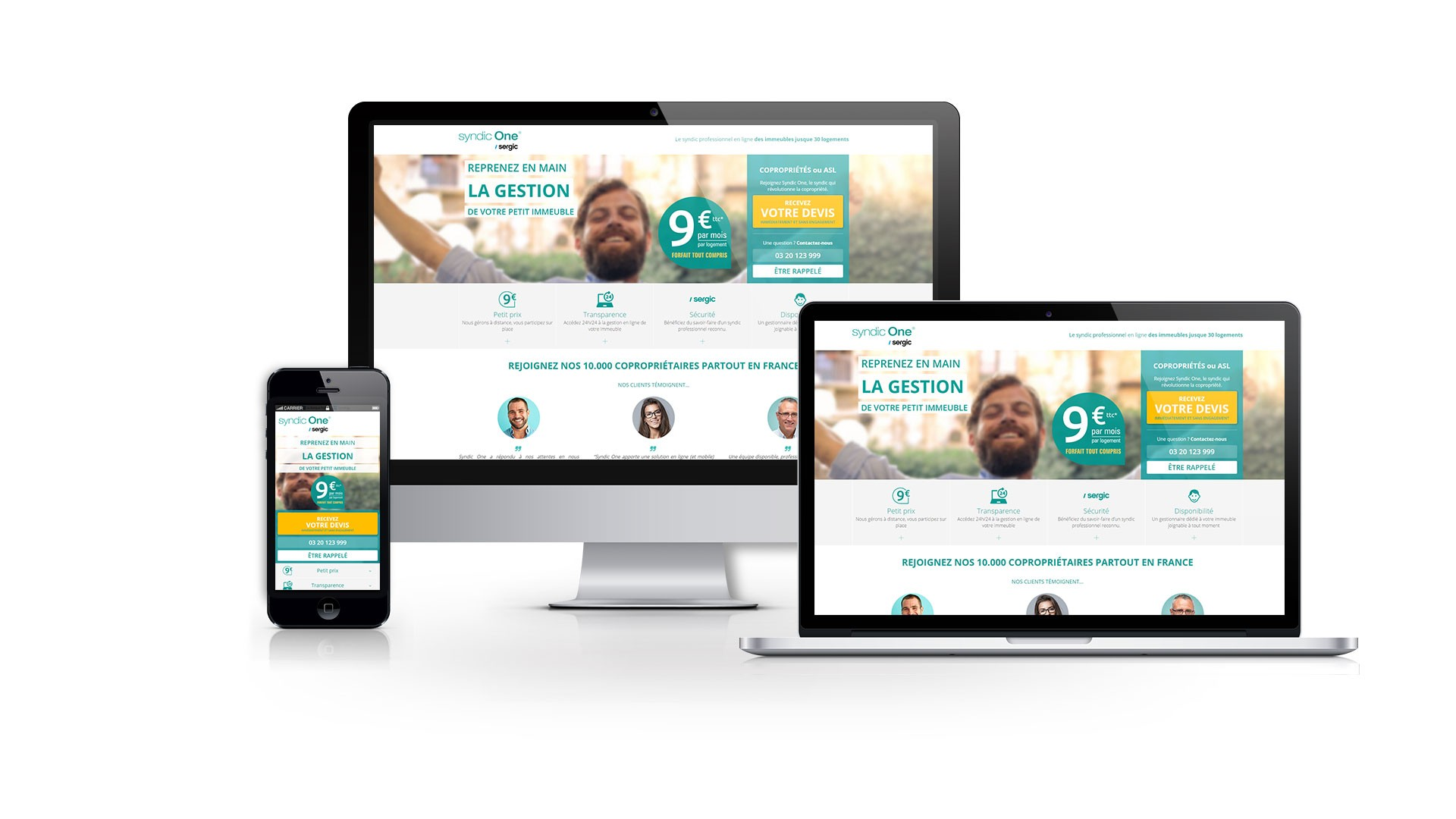 Landing page Syndic One